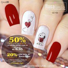 IMPERDÍVEL! Diversas películas para por apenas R$ 0,95 😱 Todos os produtos com desconto. Você merece ficar ainda mais linda pagando bem menos! 💅❤️ 🚚 Frete Grátis nas compras acima de R$ 69,90 👉 Catálogos, valores e comprar pelo Whats App (17) 99601-7921 #nails #unhas #unhasdecoradas #unhasdasemana #manicure #esmalte #manicuretop #tendencia #nailsart #nailsdesign #nailstyle #nailsalon #beautiful #joiasdeunha #nailgram #unhasideia #lovenails #dasemana #fashion #instanails #pro Chic Nail Art, Chic Nails, Black Nail Designs, Toe Nail Designs, Valentine Nail Art, Winter Nails, Manicure And Pedicure, Toe Nails, Wedding Nails