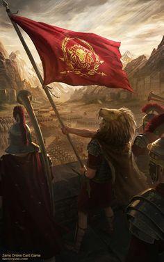 ArtStation - Zems - Banner of the Legion, Deiv Calviz (David Villegas) Ryse Son Of Rome, Fantasy Battle, Medieval Fantasy, Fantasy Art, Roman History, Art History, European History, American History, Ancient Rome