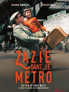 Zazie, une jeune gamine espiègle, vient à Paris chez son oncle Gabriel. Il lui fait visiter la ville, mais elle n'a qu'une idée en tête : prendre le métro. Hélas, il est en grève. C'est donc dans le taxi de Charles, l'ami de son oncle, que Zazie déma...