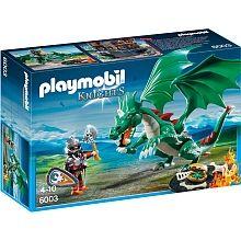 Playmobil  - Chevalier avec grand dragon vert - 6003