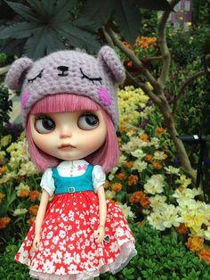 Blythe Doll Mochi at Tulipmania Gardens by the Bay by nekodollie, via Flickr