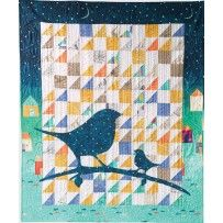 Applique Bird Quilt Digital Pattern