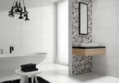Hillitty ja moderni kylpyhuone.