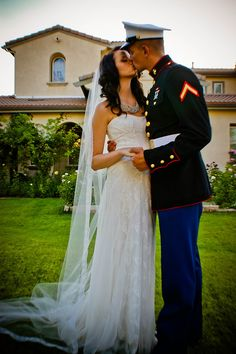 My future marine on pinterest marine corps wedding for Free wedding dresses for military brides