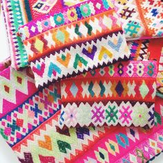 """""""we're so glad we discovered these completely amazing peruvian pouches and pillow covers... those colors! find them on our new arrivals page @ leifshop.com…"""""""
