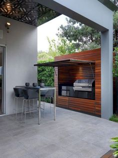 51 Ideas backyard bbq area on a budget patio Outdoor Kitchen Bars, Outdoor Kitchen Design, Kitchen On A Budget, Kitchen Ideas, Kitchen Designs, Kitchen Decor, Small Outdoor Kitchens, Parrilla Exterior, Rooftop Design