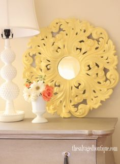 How to decorate with an antique ceiling medallion | The Salvaged Boutique | Resurrecting Vintage Beauty One Piece at a Time
