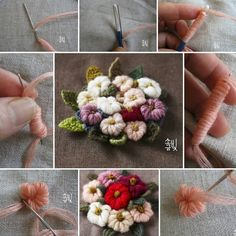 Wonderful Ribbon Embroidery Flowers by Hand Ideas. Enchanting Ribbon Embroidery Flowers by Hand Ideas. Types Of Embroidery, Learn Embroidery, Hand Embroidery Stitches, Silk Ribbon Embroidery, Hand Embroidery Designs, Embroidery Techniques, Cross Stitch Embroidery, Embroidery Patterns, Hand Embroidery Flowers