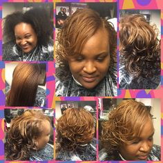 Two tone color applied to natural hair Citygirlshair.com