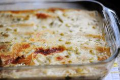 White Chicken Sour Cream Enchiladas - Pioneer Woman recipe (appears more complete for better flavor)