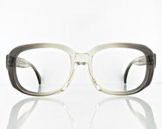 Vintage 1970's Opticaron 6709 eyeglasses brown grey by OldFocals,