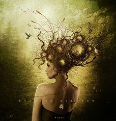 Hot Digital Art by Carlos E. Quevedo
