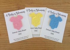 Baby Shower Favors Seeds ~ Baby shower favors u distressed pots with herb seeds dinks at