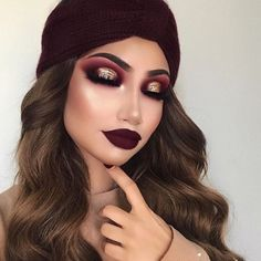 ✔ best sexy eyeshadow makeup inspiration ideas for prom and wedding 39 Glam Makeup, Gold Eye Makeup, Cute Makeup, Gorgeous Makeup, Pretty Makeup, Makeup Inspo, Eyeshadow Makeup, Makeup Inspiration, Hair Makeup
