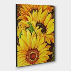 돈들어오는 그림, 어떤게 있을까? 베스트 4 Sunflower Drawing, Watercolor Sunflower, Sunflower Art, Amazing Flowers, Colorful Flowers, Sunflower Pictures, Painting On Wood, Watercolor Paintings, Iphone Wallpaper