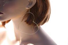 Heart Earrings Heart Jewelry Wire Heart Valentine by DRaeDesigns, $10.00