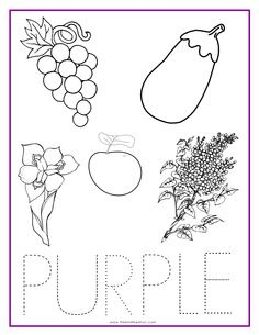 purple color activity sheet repinned by totetudecom - Color Activity For Preschool