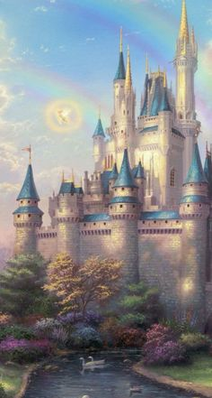 new Day At The Cinderella Castle Thomas Kinkade Painting Cinderella Castle Castle Disneyland Rectangle Mouse Pad