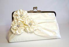 EllenVintage Silk Clutch wedding clutch wedding by ellenVintage, $84.00