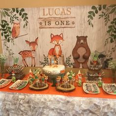 ideas for 13 year olds Animal Birthday, 1st Boy Birthday, Boy Birthday Parties, 1 Year Birthday Party Ideas, Birthday Party Decorations, Baby Shower Backdrop, Birthday Backdrop, Backdrops For Parties, Woodland Party