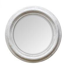 Uttermost Joshua Ivory Round Wooden Mirror : 9WTJ8 | The Lighting Gallery