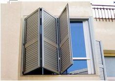 Contraventana plegable de aluminio para puerta moveon ehret gmbh escaleras ventanas - Aluminios garcilaso ...
