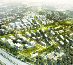 Enlargir Landscape And Urbanism, Urban Landscape, Urban Design Concept, Saint Martin, Urban Architecture, Birds Eye View, Urban Planning, Toulouse, Aerial View