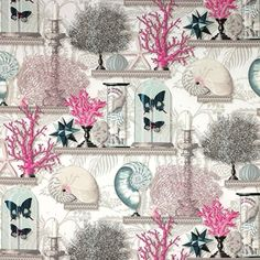 Such a wonderful fabric. I just love all of it together with the butterflies. From Manuel Canovas