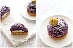 Foodagraphy. По Chelle .: фиолетовый сладкий картофель Монблан (紅 い も モ ン ブ ラ ン)