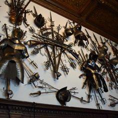 La salle d'armes du Château Peles. Chandelier, Ceiling Lights, Decor, Romania, Tourism, Travel, Candelabra, Decoration, Chandeliers