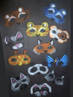 Face Painting Animal Mask Designs by Denise Cold from Painted Party
