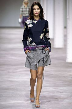 floral layered over plaid = perfection. Dries Van Noten S/S 13