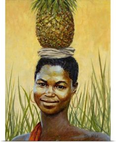 Tilly Willis Poster Print Wall Art Print entitled Pineapple Girl, 2004 (oil on canvas), None