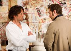 """Robert Downey Jr. (Holmes) and Jude Law (Watson) in """"Sherlock Holmes: A Game of Shadows"""""""