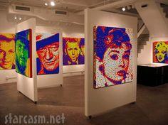 Cube Works Rubik's Cube sculptures Photo 7 of 16 Audrey Hepburn John Wayne Frank Sinatra
