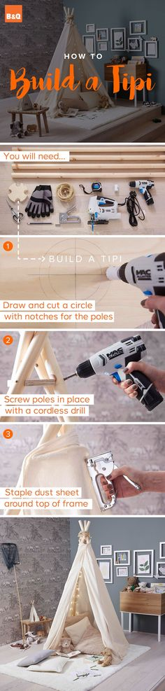 Zelf TIPI maken | Here's how to create your very own home-made tipi