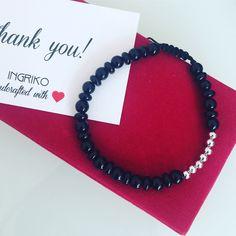 Onix and silver Man bracelet #ingriko #forhim