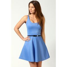Maya Scoop Neck Skater Dress ($24) ❤ liked on Polyvore