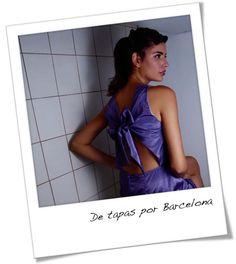 Cocktail Dress Lilac Taffeta Sexy Back Bow by lauraplenzik on Etsy, $57.00