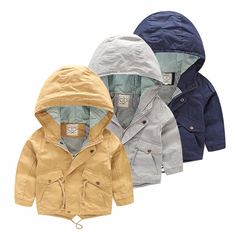 Cool For 2-8 Yrs Baby Boy Coat Jacket Boy Hooded Windbreaker Outerwear & Coats Autumn Cotton Fashion Casual for Kids Children Cloth - $ - Buy it Now!