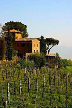 View of a Villa in Orvieto, Italy.