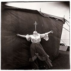 View Albino Sword Swallower at a Carnival, MD by Diane Arbus on artnet. Browse more artworks Diane Arbus from Feldschuh Gallery. Diane Arbus, Mary Ellen Mark, Clowns, Vintage Photography, White Photography, Street Photography, Circus Photography, Photography Career, Portrait Photography