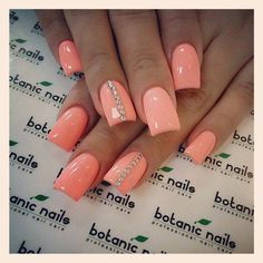 cute salmon acrylic nail designs instagram - Google Search