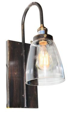 Insulator Glass 1 Light Swingarm Sconce In Weathered Zinc By Elk Lighting Group