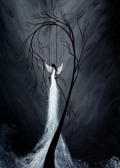 Surreal Tree Angel Painting by Jaime Best - Beautiful Disaster