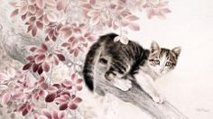http://hqwallbase.com/images/big/chinese_cat_painting_ii-1506615.jpg
