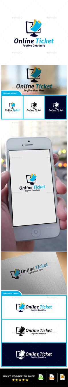 Online Ticket Logo — Vector EPS #web ticket #pay tiket • Available here → https://graphicriver.net/item/online-ticket-logo/11297424?ref=pxcr