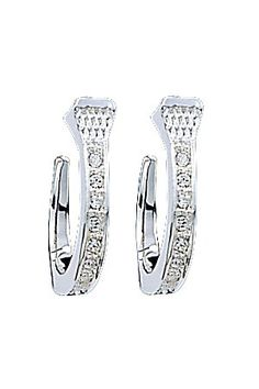 Montana Silversmiths Nail-like Silver With Clear Crystal Earring