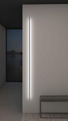 Thin line indirect wall light by sonneman a way of light 2814 16 3 Architectural Lighting Design, Modern Lighting Design, Interior Lighting Design, Modern Exterior Lighting, Led Light Design, Architectural Presentation, Architectural Models, Architectural Drawings, Interior Minimalista