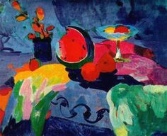 Minas Avetisian. Still life with water-melon.1960. Oil on canvas. 80x100 cm.Art Gallery of Armenia. Yerevan.